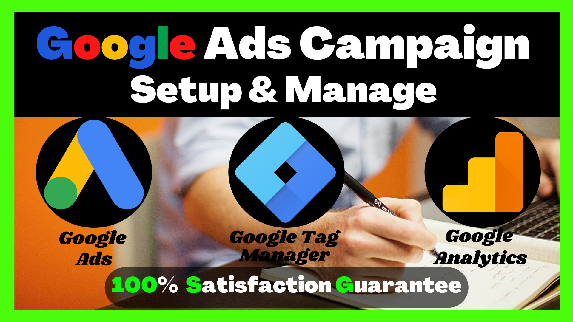 I will do google ads setup and manage ads adwords PPC campaign, FiverrBox