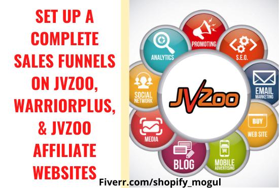 I will setup sales funnels on JVZOO, Warriorplus, and JVZOO Affiliate Website, FiverrBox