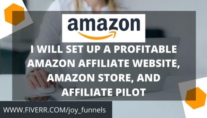 I will setup a profitable amazon affiliate website,amazon store and, FiverrBox