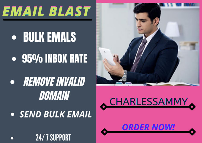I will do 100,000 email blast bulk email campaign for you, FiverrBox