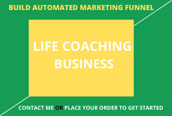 I will build automated marketing funnel for your life coaching business, FiverrBox
