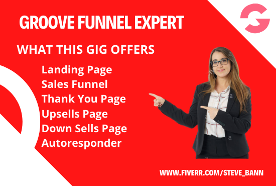 I will do sales funnel on groove funnel, groove kart and groove, FiverrBox