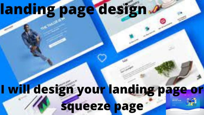 I will create a stunning and responsive landing page, FiverrBox