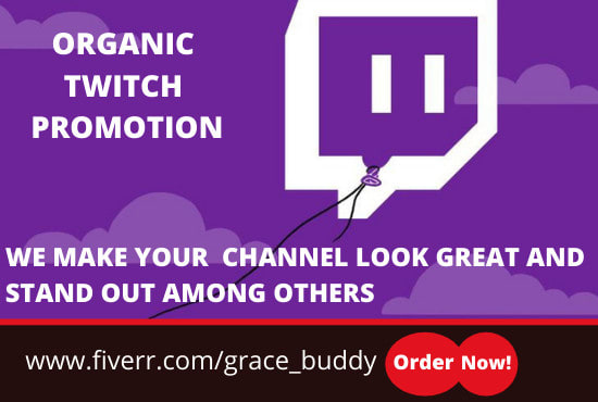 I will grow your twitch community with organic promotion, FiverrBox