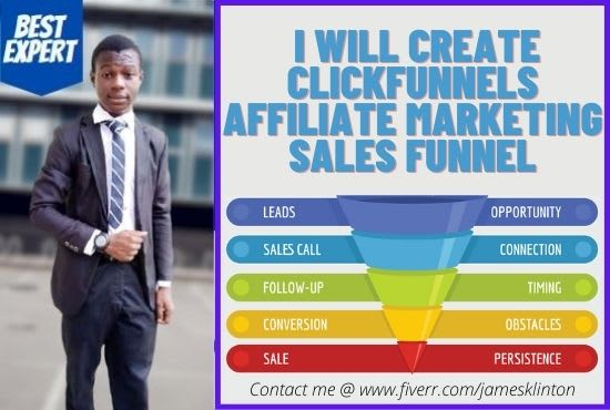 I will create clickfunnels affiliate marketing sales funnel, FiverrBox