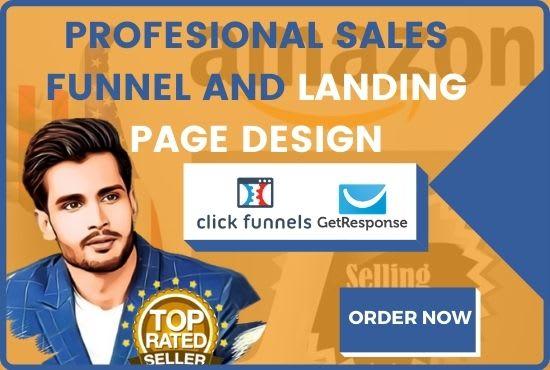 I will create sales funnel for amazon affiliate website amazon affiliate landing, FiverrBox