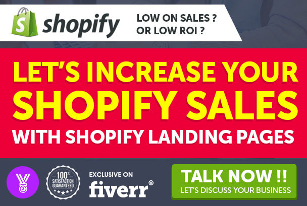I will design shopify landing page, product landing page, gempages, pagefly, shogun, FiverrBox