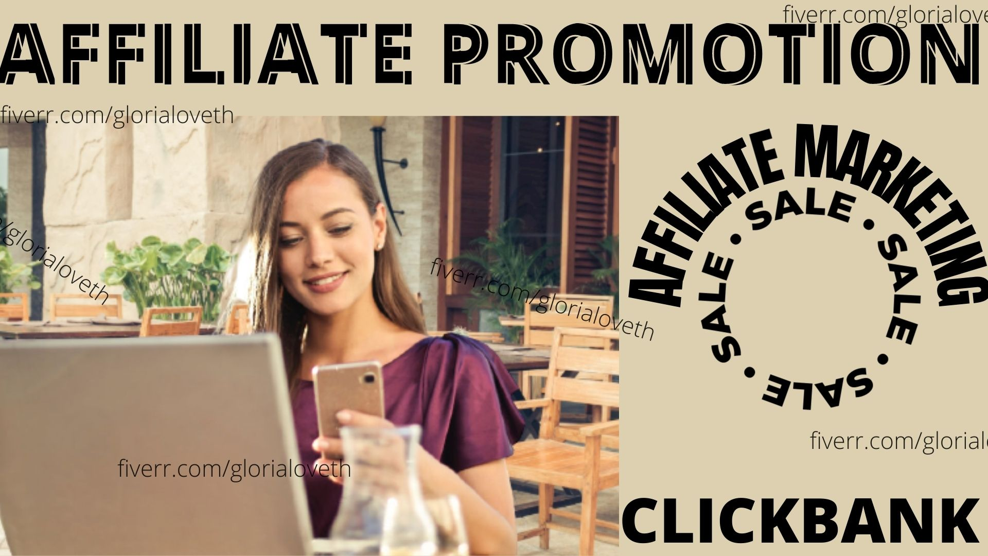 I will do organic affiliate promotion, affiliate marketing, clickbank promotion, FiverrBox