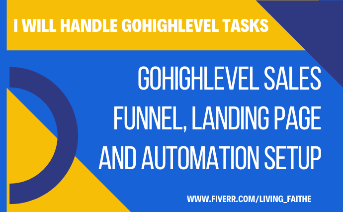 I will do sales funnels, landing page and website in gohighlevel, FiverrBox