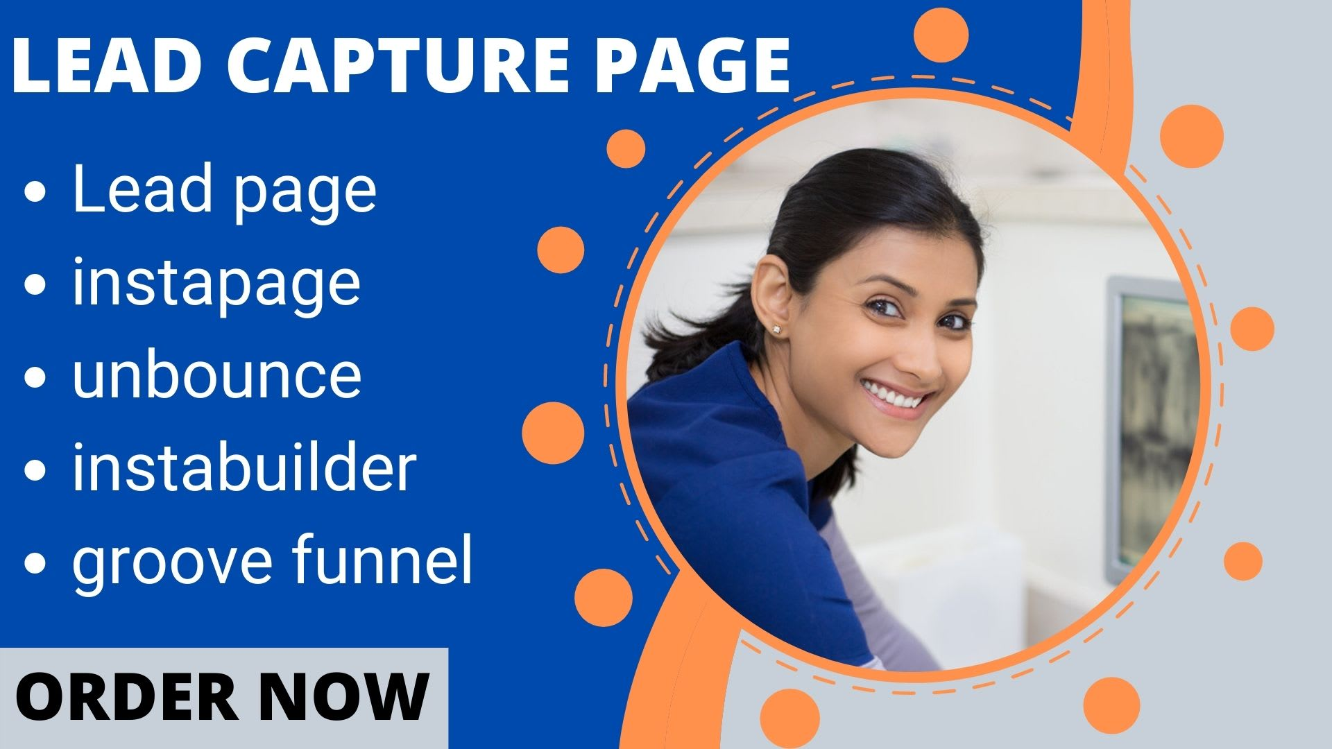 I will groove funnel, instabuilder, instapage, leadpage, unbounce landing page, FiverrBox