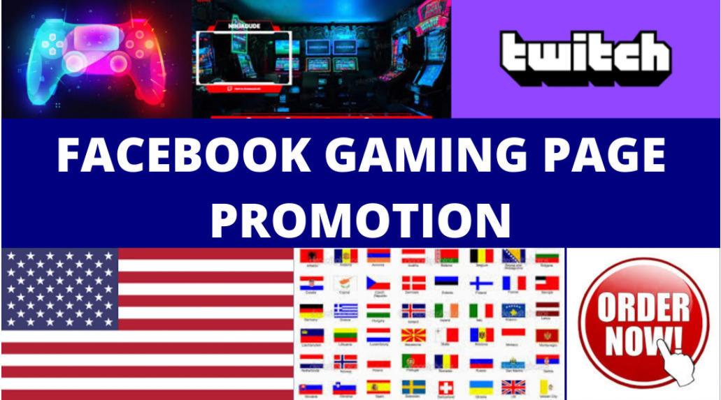 I will promote your facebook gaming page to over 1m active audince, FiverrBox