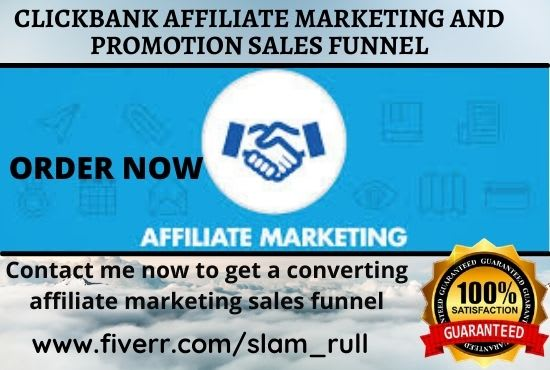 I will create autopilot clickbank affiliate marketing sales funnel landing page, FiverrBox