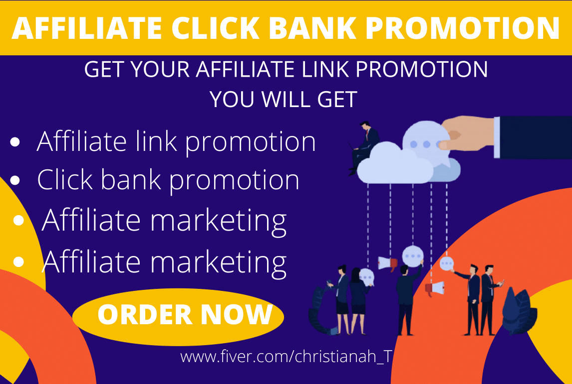 I will do affiliate clickbank promotion, affiliate marketing, clickbank sales funnel, FiverrBox