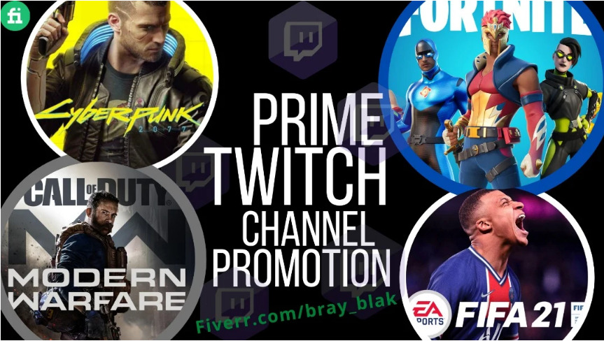 I will promote your twitch channel with real and organic audience, FiverrBox