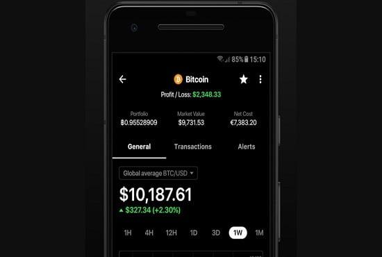 I will develop crypto currency tracker app, wallet app like blockfolio, FiverrBox