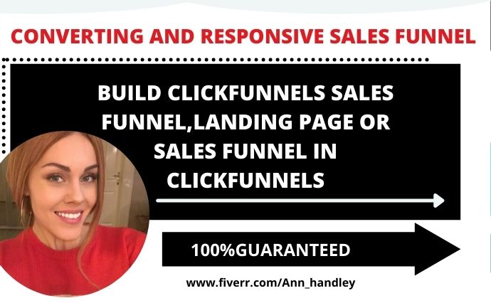 I will build clickfunnels sales funnel,landing page or sales funnel in clickfunnels, FiverrBox