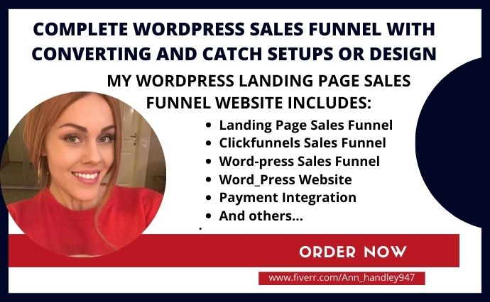 I will roi wordpress sales funnel,wordpress landing page sales funnel in, FiverrBox