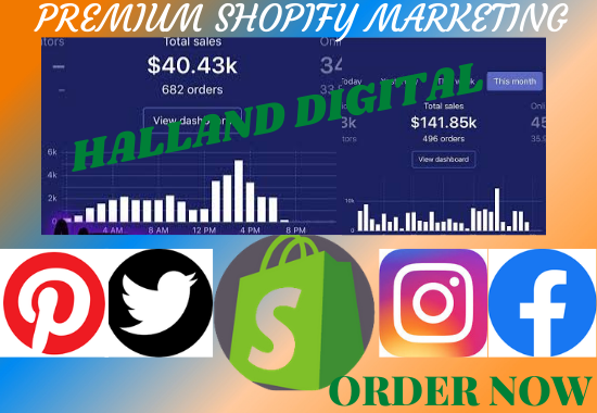 I will sales conversion shopify marketing, shopify sales funnel, shopify promotion, FiverrBox