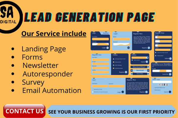 I will lead generation a landing page and sales funnel, FiverrBox