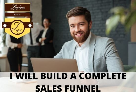 I will build clickfunnels affiliate marketing sales funnel and landing pages, FiverrBox