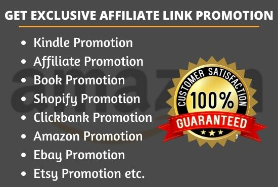 I will create kindle or book, affiliate and shopify promotion for clickbank, FiverrBox