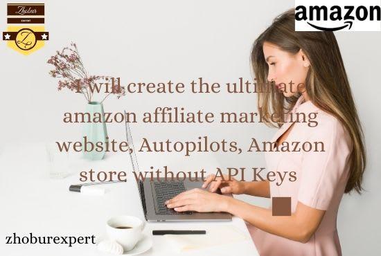 I will create the ultimate amazon affiliate marketing website, FiverrBox