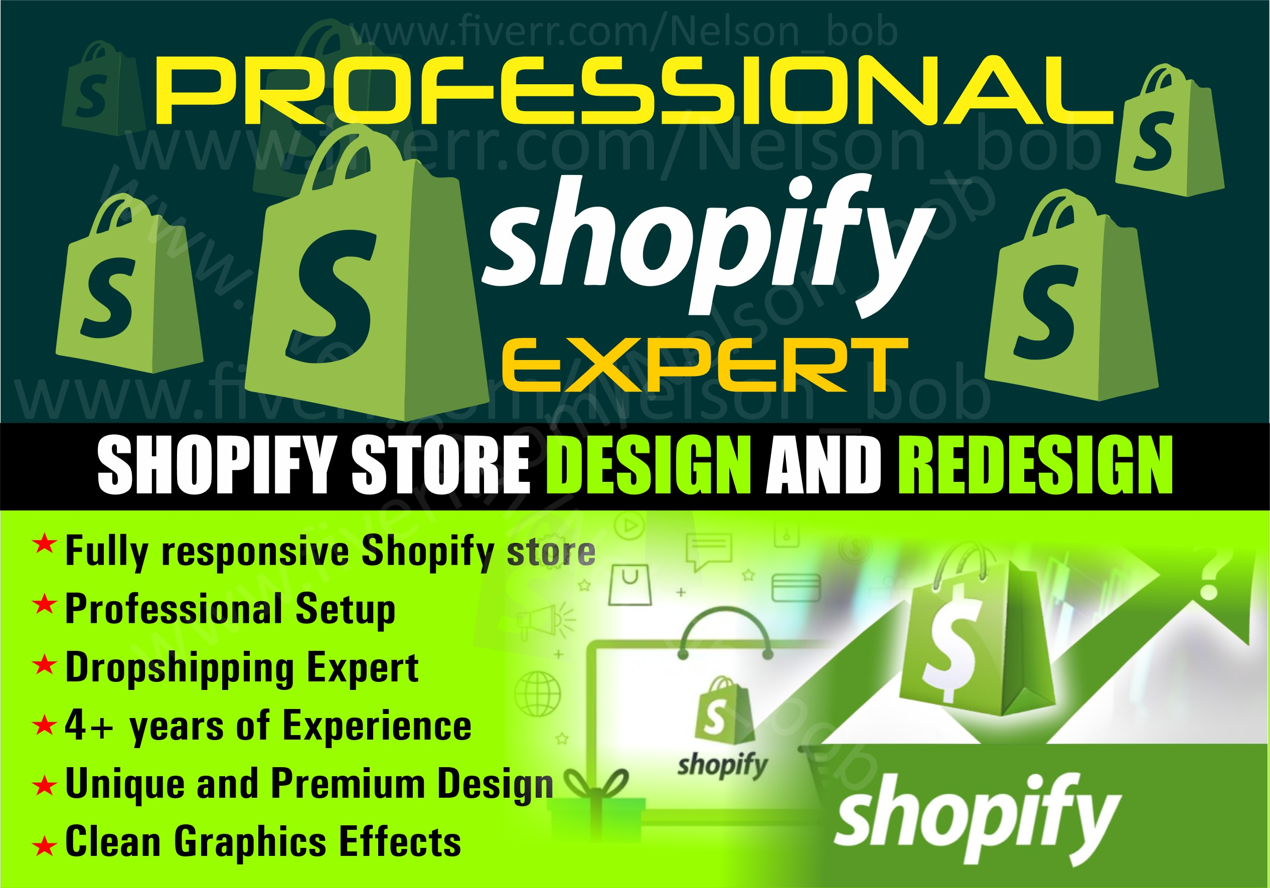 I will design or redesign shopify website design shopify store design, FiverrBox