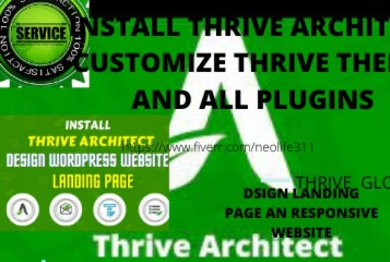 I will I will design thrive theme website using thrive architect, thrive, FiverrBox