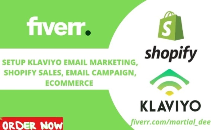 I will setup klaviyo email marketing flows for shopify marketing, FiverrBox