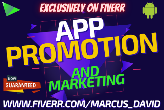 I will do app mobile marketing,game app,IOS,android app promotion,dating app,music app, FiverrBox