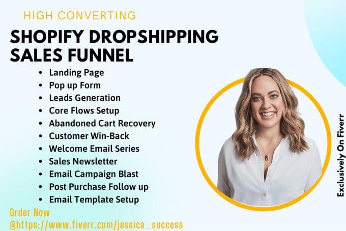 I will do shopify klaviyo sales funnel, shopify marketing, shopify sales, FiverrBox