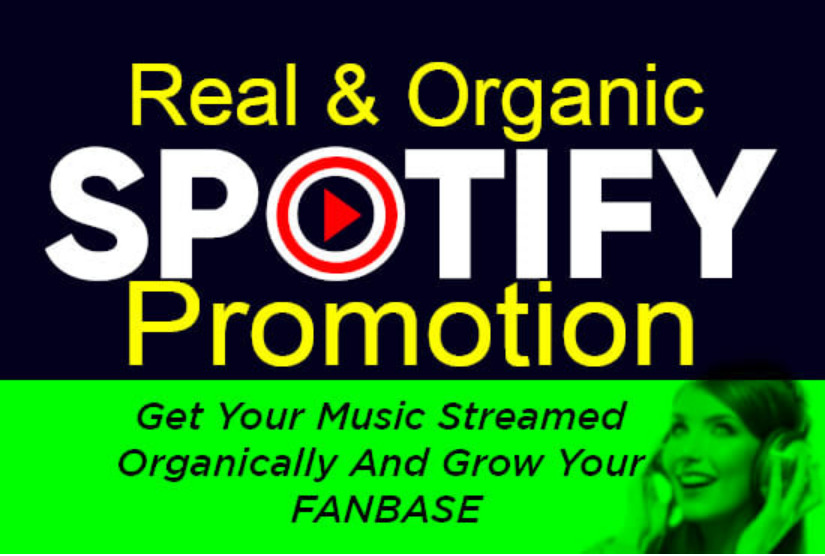I will do organic spotify music and album promotion streams and monthly, FiverrBox