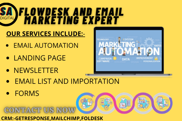 I will build flodesk,be email marketing on getresponse, mailchimp, FiverrBox