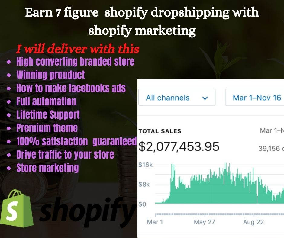 I will create and marketing shopify dropshipping store shopify website, FiverrBox