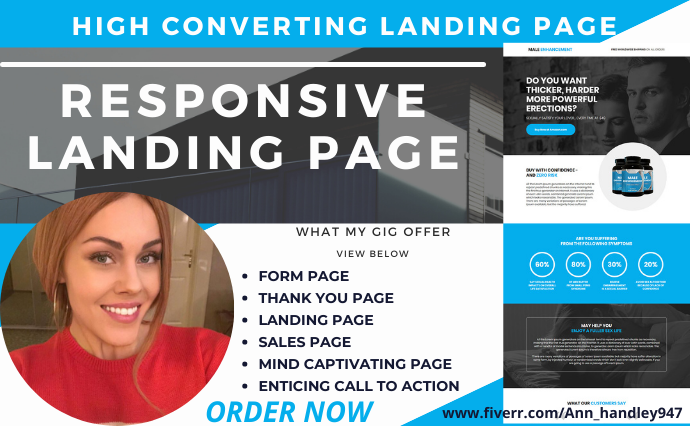 I will design a stunning and professional landing page in clickfunnel or, FiverrBox