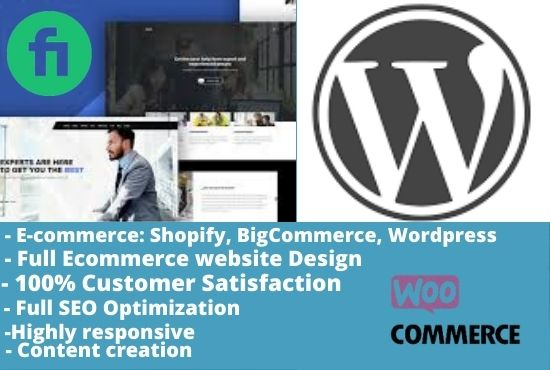 I will deign wordpress ecommerece website to boost your business, FiverrBox