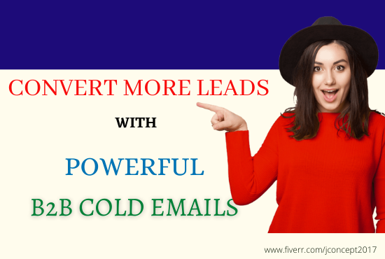 I will write cold b2b emails in series for outbound lead generation, FiverrBox