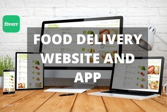I will design your food delivery website, food deliver app, FiverrBox