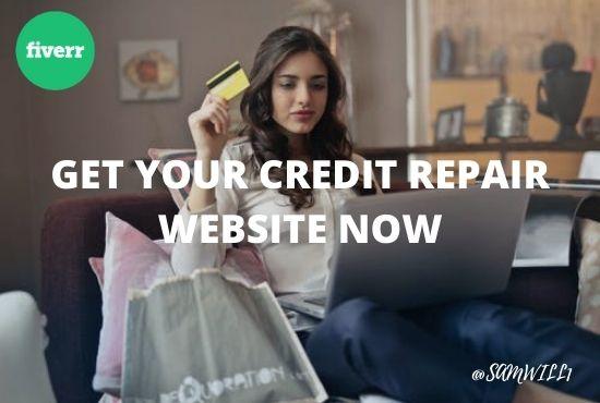 I will design unique credit repair website for your business, FiverrBox