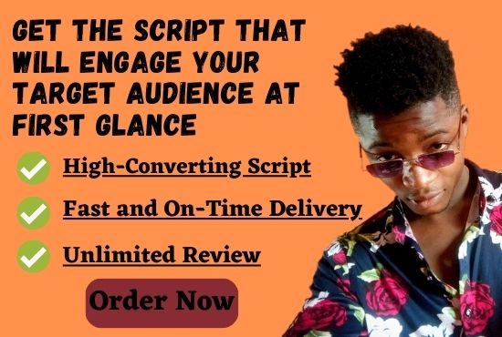 I will do an engaging top notch script for your explainer video, FiverrBox