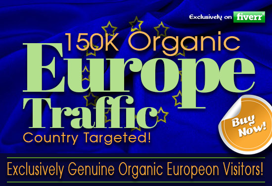 I will drive organic web traffic from Europe with low bounce rate, FiverrBox