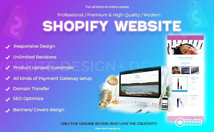 I will do shopify store, wordpress, wix website design, FiverrBox