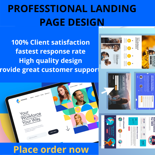 I will design a clean landing page and responsive wordpress website, FiverrBox