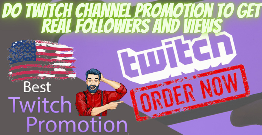 I will do twitch channel promotion to get real followers and views, FiverrBox