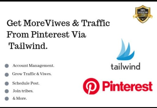 I will do pinterest marketing use tailwind to get traffic, FiverrBox