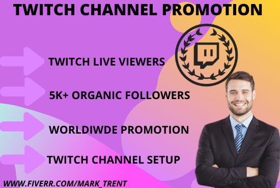 I will run massive promotion and help your trovo and twitch channel, FiverrBox