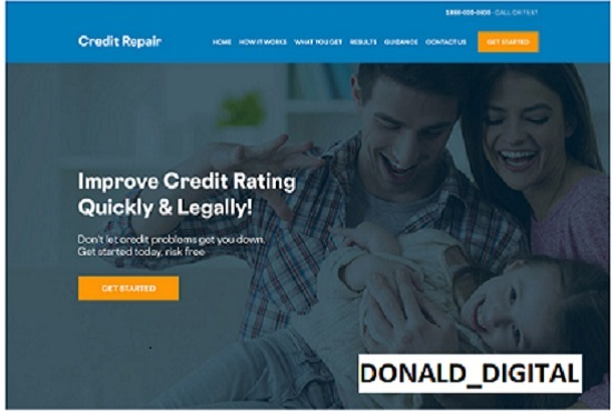I will create an amazing credit repair website with leads, FiverrBox
