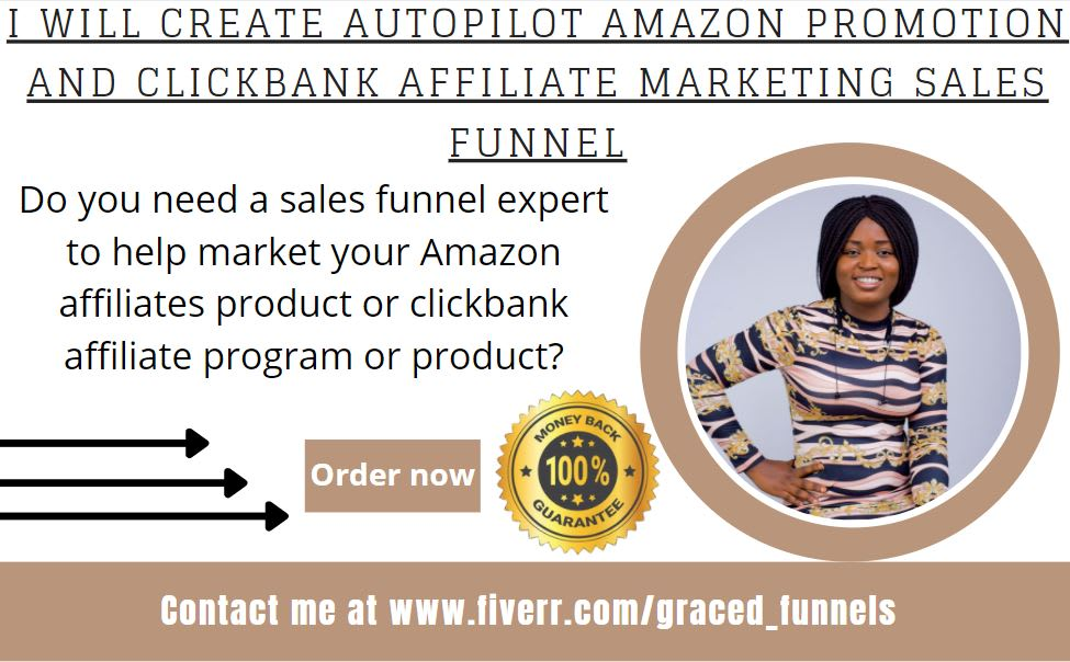 I will create autopilot amazon promotion and clickbank affiliate marketing sales funnel, FiverrBox