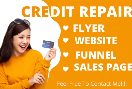 I will build credit repair flyer credit repair website business website business, FiverrBox