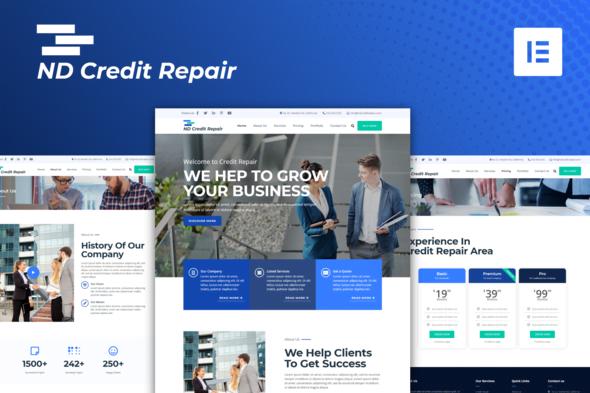 I will create professional credit repair website,credit repair,landing page,card repair website, FiverrBox